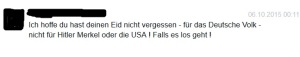 """(Der Hinweis eines """"besorgten Bürgers"""" auf meine soldatische Pflicht gegenüber der deutschen Bevölkerung)"""
